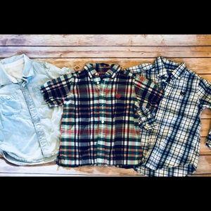 Lot of three boys 4T button down shirts GAP RL